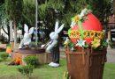 Coelhinhos tomam conta da Praça em Urussanga