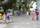 CDL e Prefeitura promovem mutirão de limpeza na Praça Nereu Ramos
