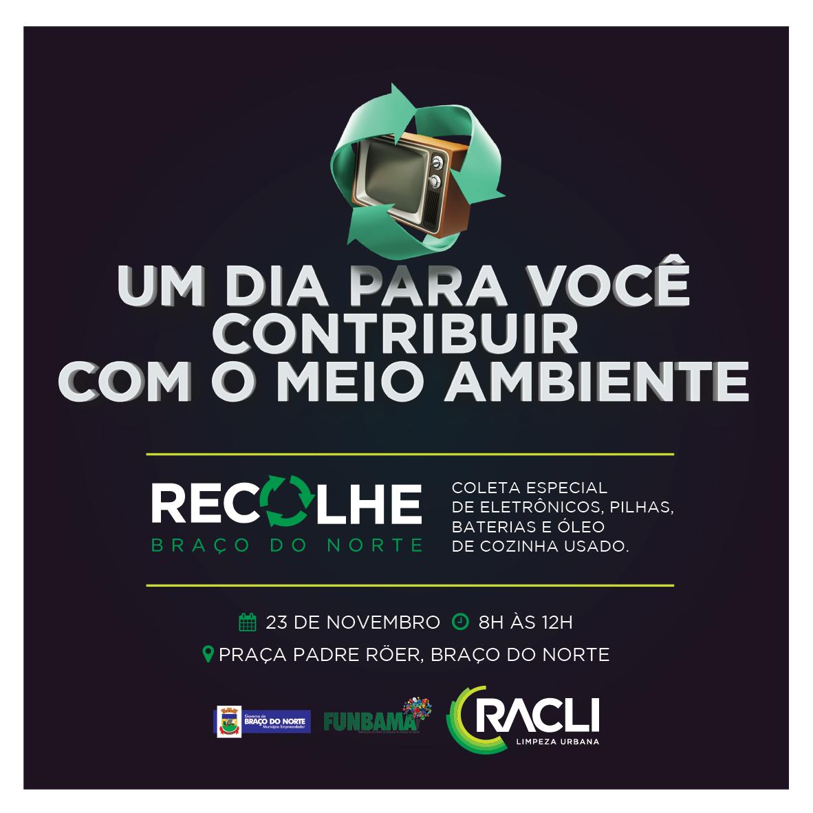 Racli promove ação que orienta sobre a destinação correta dos resíduos