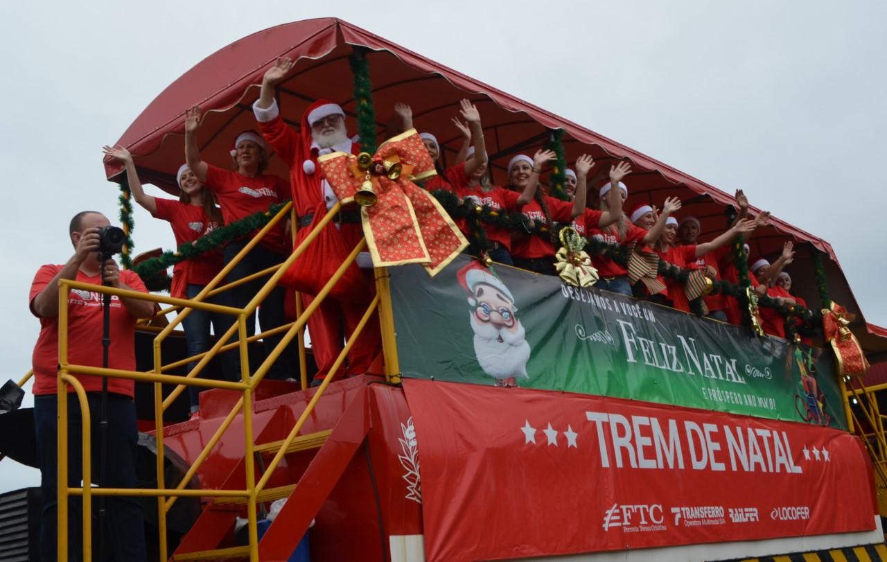 Trem de Natal da Ferrovia Tereza Cristina tem roteiro quarta em Siderópolis