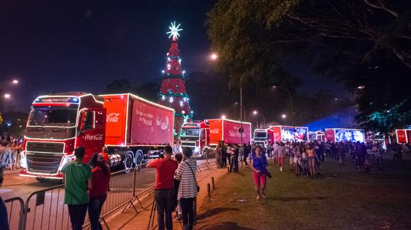 Domingo de Caravana da Coca Cola em Criciúma