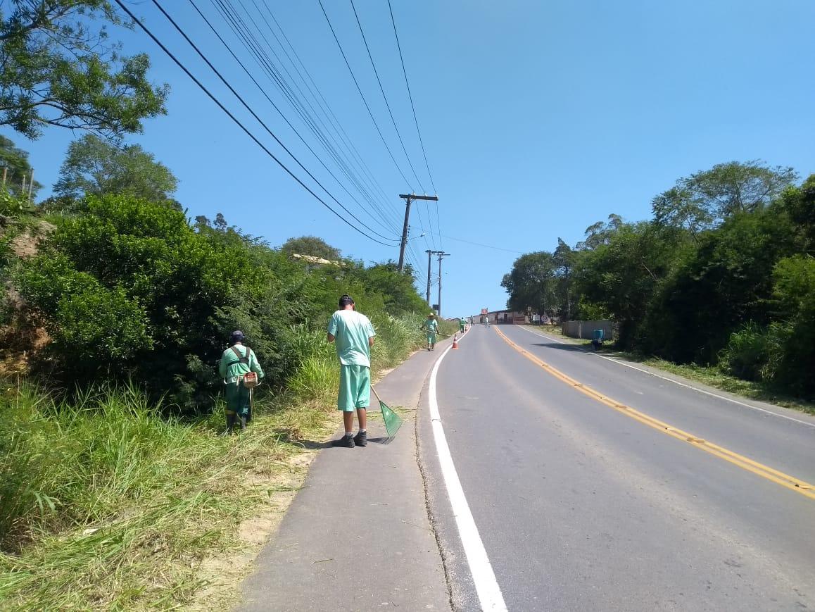 Rodovias do interior de Içara passam por revitalização