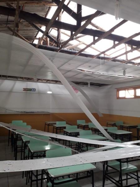 Temporal deixou estragos em Criciúma e Içara