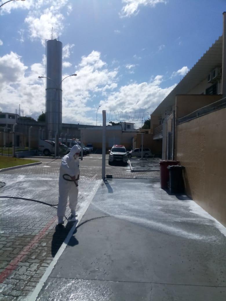 Na prevenção ao Covid-19 presídio recebe higienização