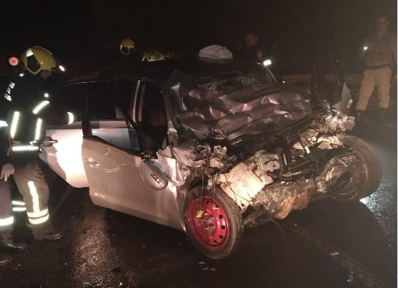 Homem morre ao colidir contra ônibus em Siderópolis