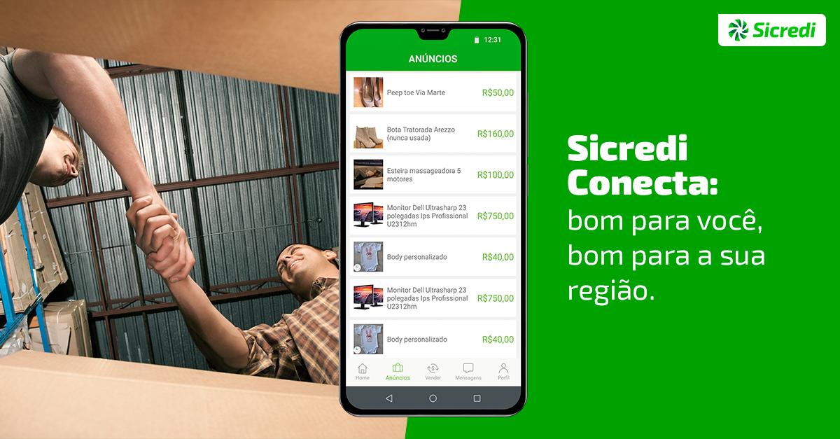 """Sicredi Sul SC apresenta aplicativo """"Conecta"""" para incentivar o comércio entre associados"""